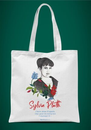 Bolsa homenaje a Sylvia Plath